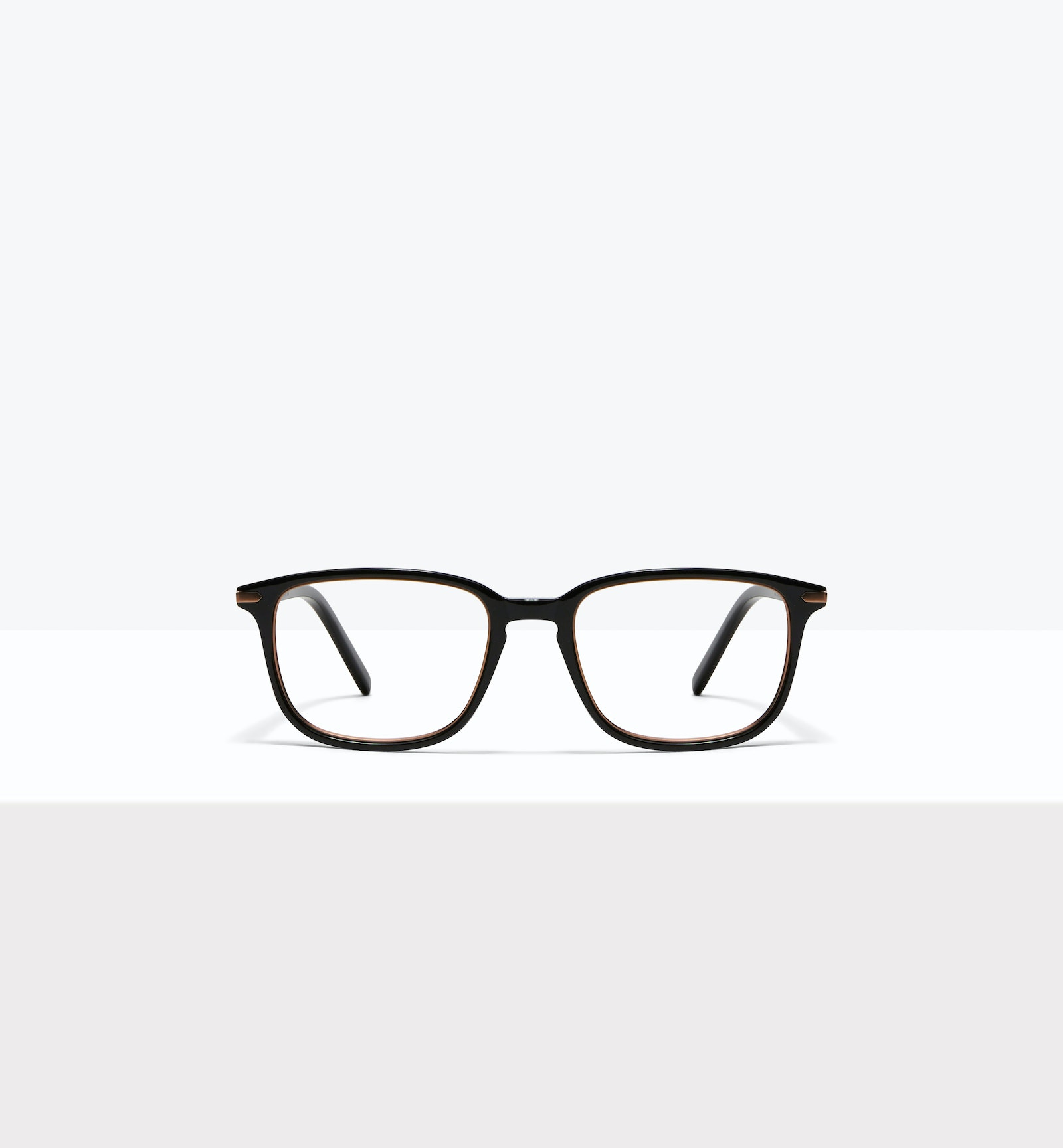 Affordable Fashion Glasses Square Eyeglasses Men Sharp Lux Black Copper