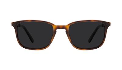 Affordable Fashion Glasses Rectangle Sunglasses Men Sharp Matte Tort Front