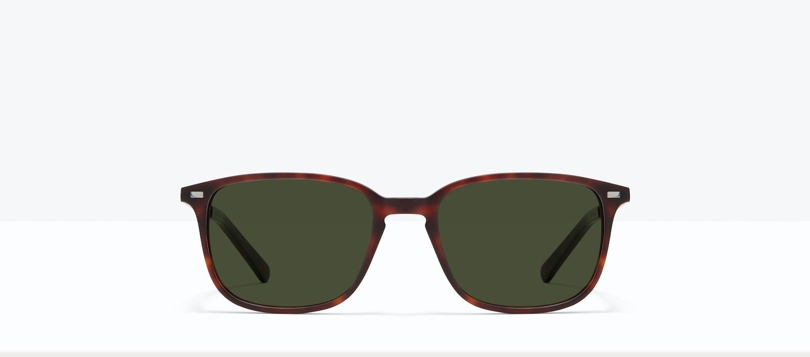 Affordable Fashion Glasses Rectangle Sunglasses Men Sharp S Matte Tort Front