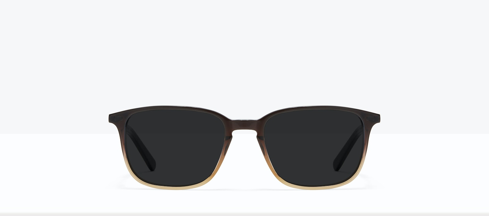 Affordable Fashion Glasses Rectangle Sunglasses Men Sharp L Mocha Front