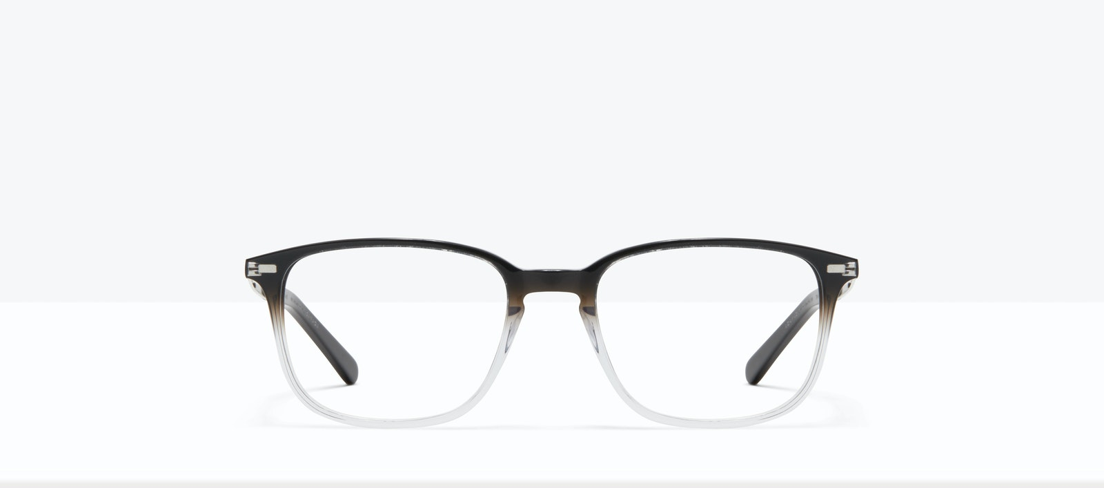 Affordable Fashion Glasses Rectangle Eyeglasses Men Sharp L Onyx Clear Front