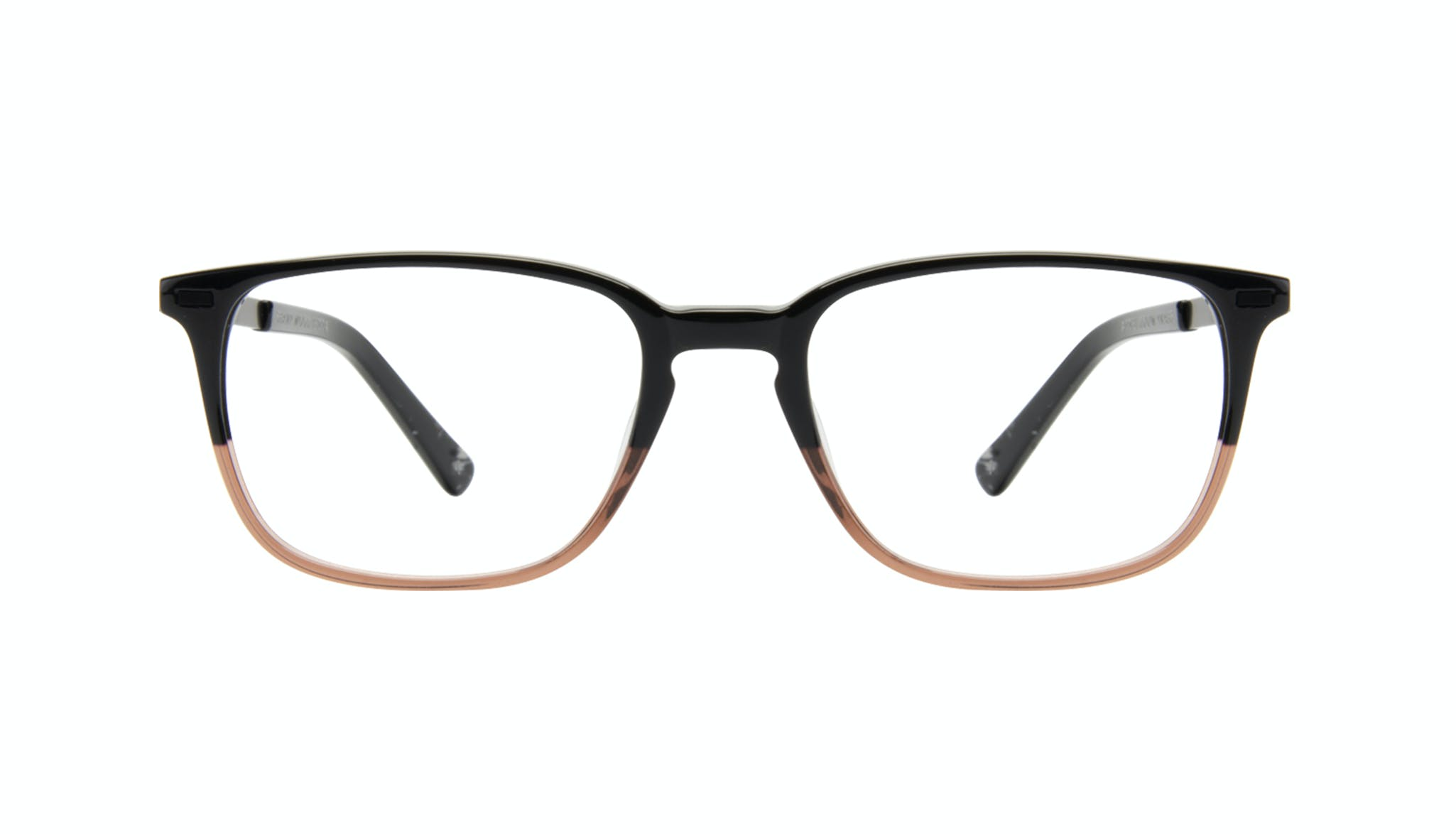 Affordable Fashion Glasses Rectangle Eyeglasses Men Sharp Wood Terra Front