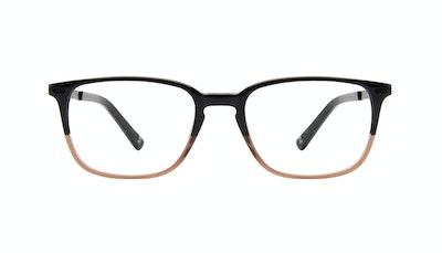 Affordable Fashion Glasses Rectangle Eyeglasses Men Sharp Wood Terra Front