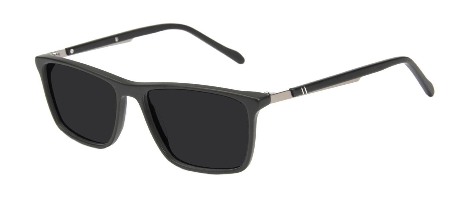 Affordable Fashion Glasses Rectangle Sunglasses Men Skill Matte Black Tilt