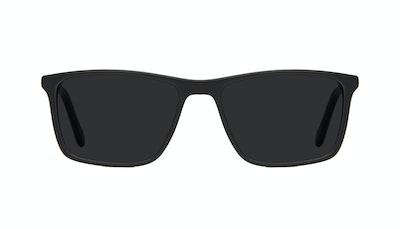 Affordable Fashion Glasses Rectangle Sunglasses Men Skill Matte Black Front