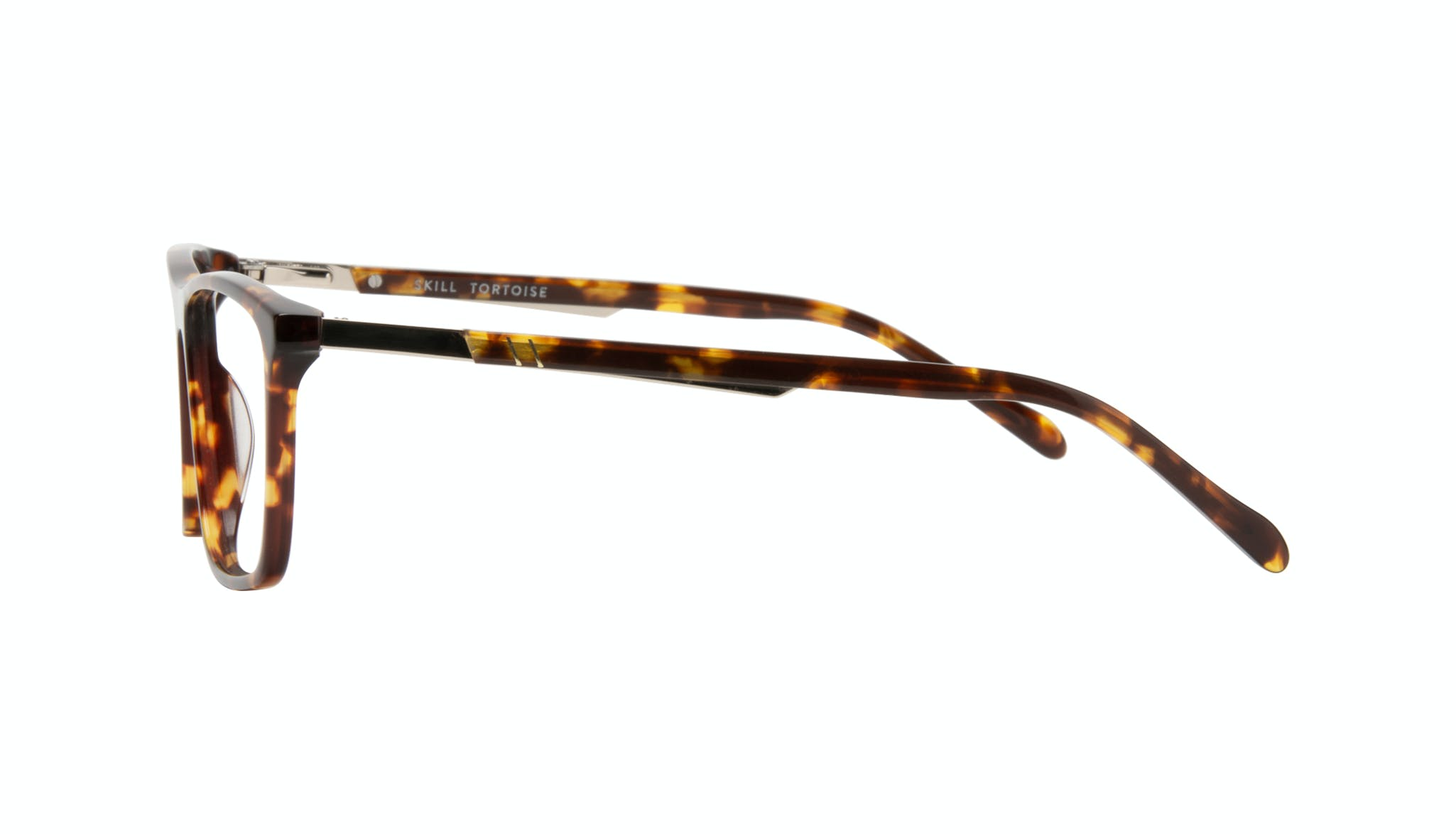 Affordable Fashion Glasses Rectangle Eyeglasses Men Skill Tortoise Side