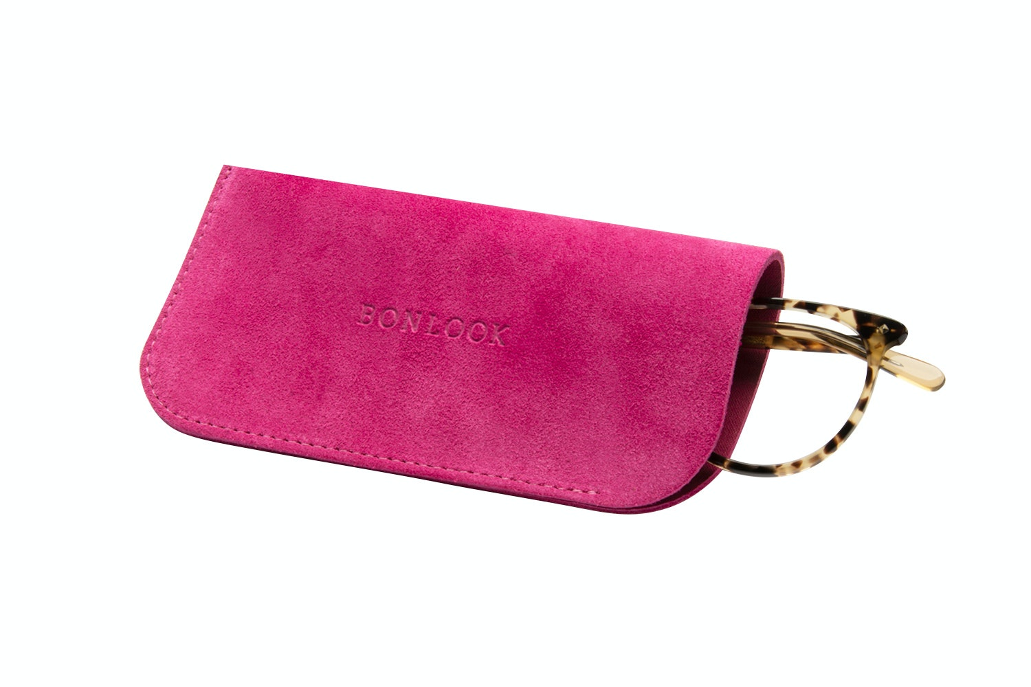 Affordable Fashion Glasses Accessory Men Women Sleeve Case  Fuchsia Suede Tilt