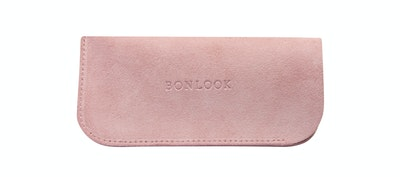 Affordable Fashion Glasses Accessory Women Sleeve Case  Pink Suede Front