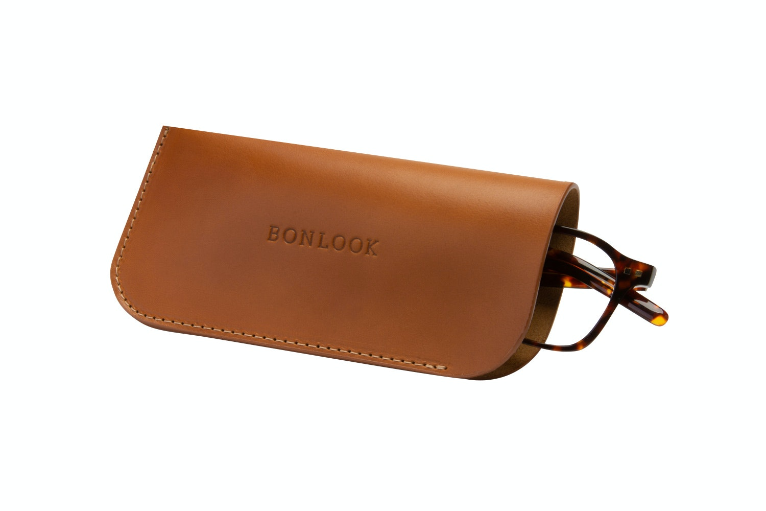 Affordable Fashion Glasses Accessory Men Women Sleeve Case  Tan Tilt