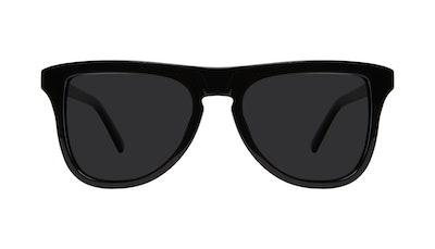 Lunettes tendance Carrée Lunettes de soleil Hommes Social Black Face
