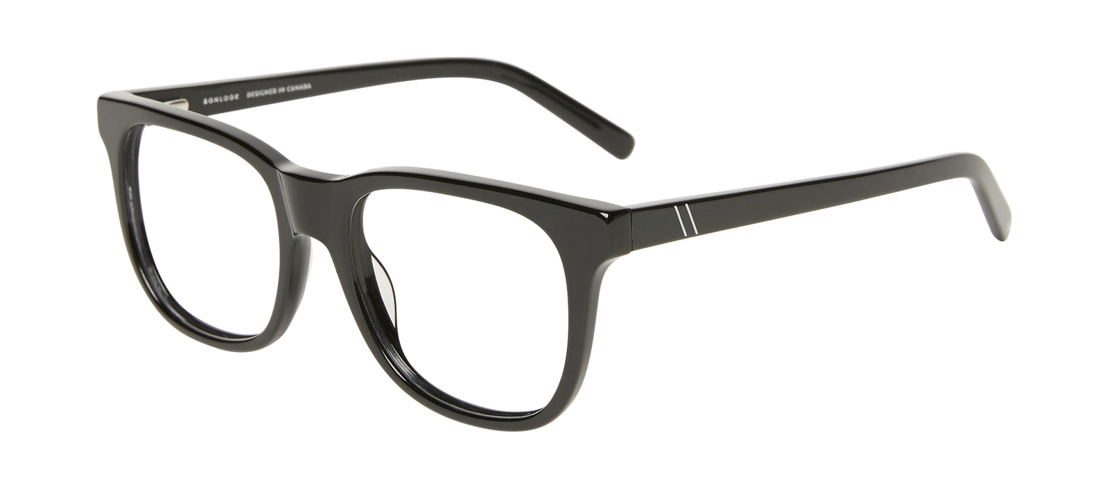 Affordable Fashion Glasses Square Eyeglasses Men Solo Black Tilt
