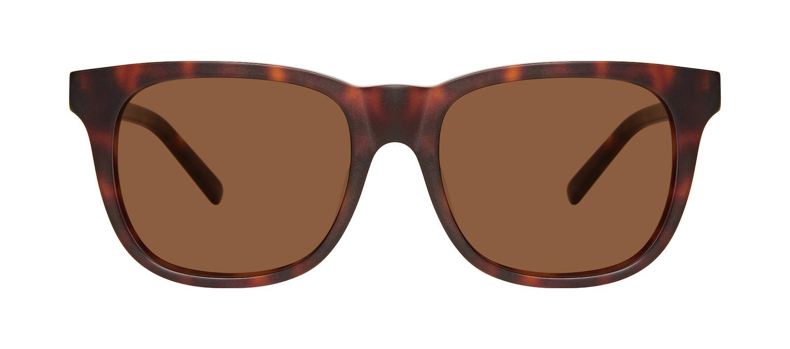 Affordable Fashion Glasses Square Sunglasses Men Solo L Matte Tortoise Front
