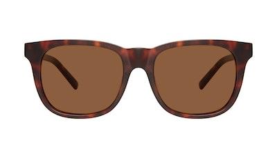 Affordable Fashion Glasses Square Sunglasses Men Solo Matte Tortoise Front