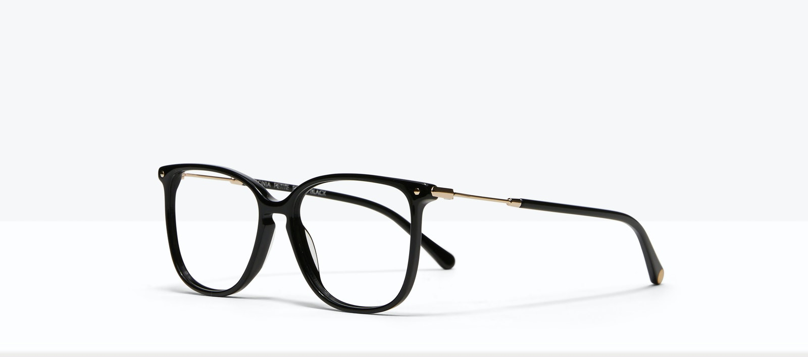 Affordable Fashion Glasses Square Eyeglasses Women Sonia Petite Pitch Black Tilt