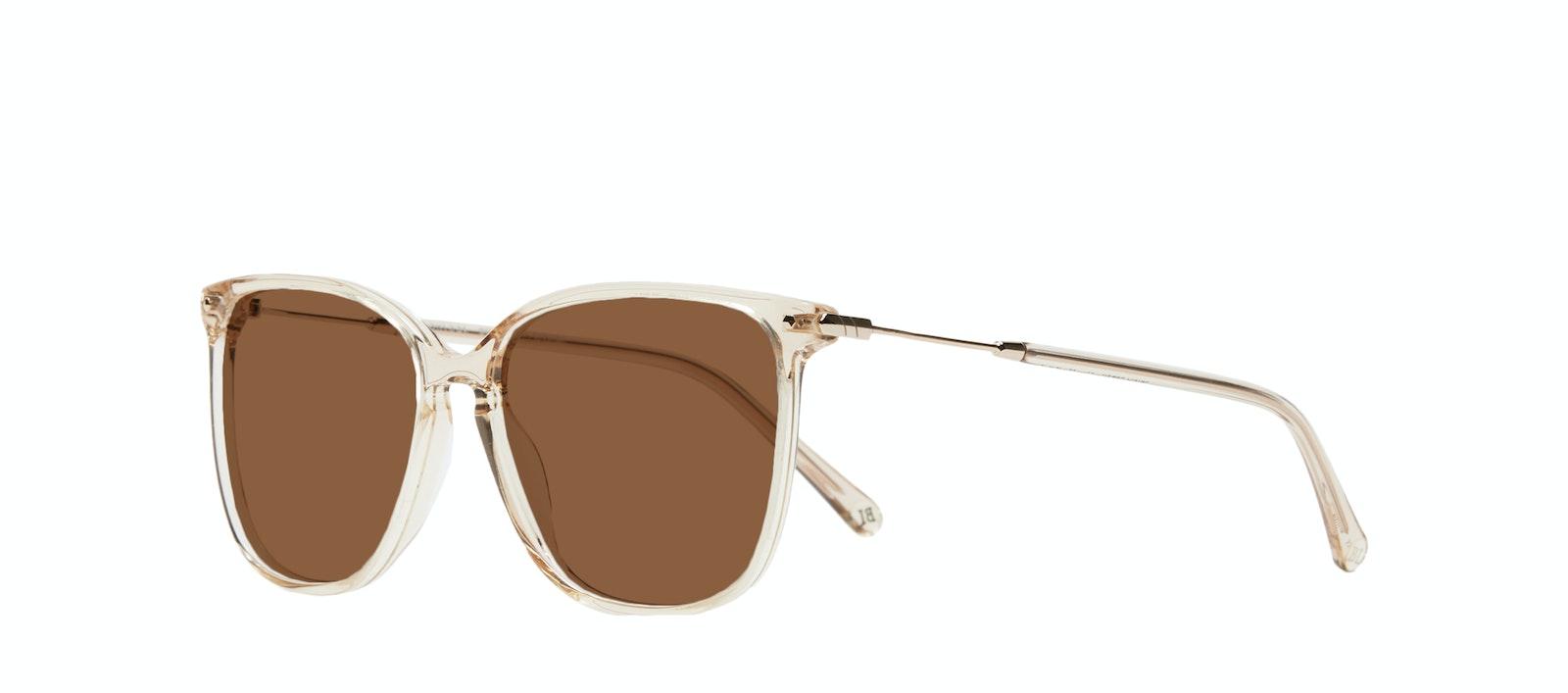 Affordable Fashion Glasses Square Sunglasses Women Sonia XS Blush Tilt