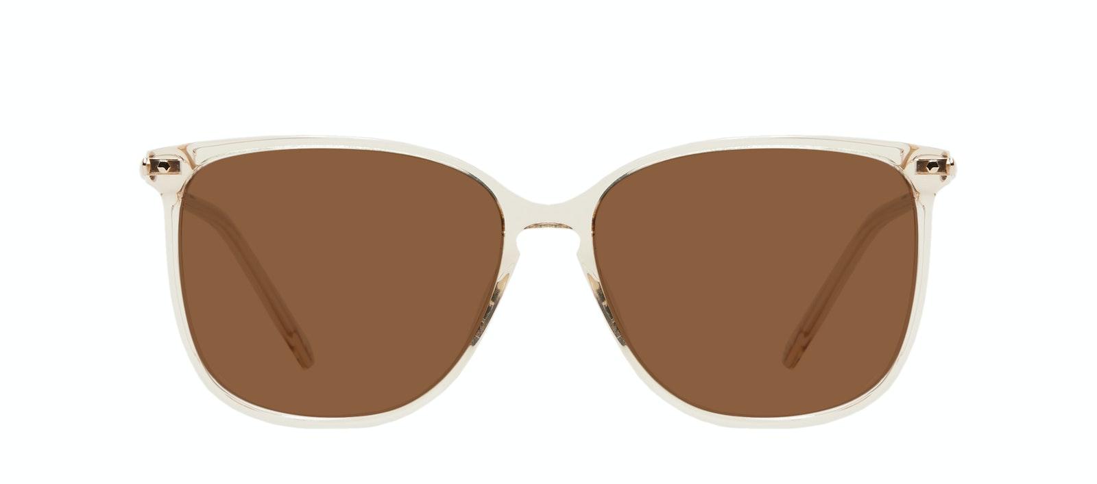 Affordable Fashion Glasses Square Sunglasses Women Sonia XS Blush Front