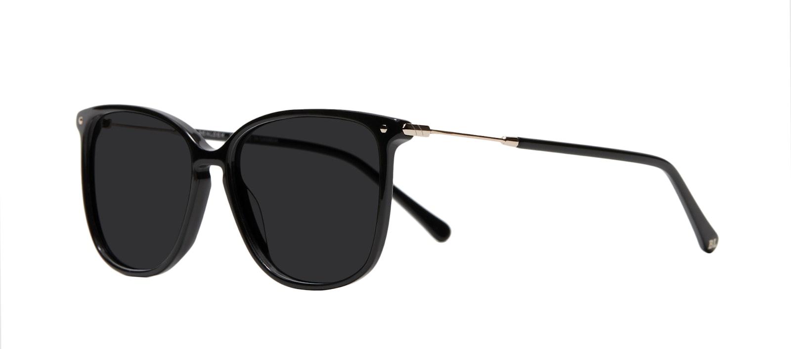 Affordable Fashion Glasses Square Sunglasses Women Sonia Pitch Black Tilt