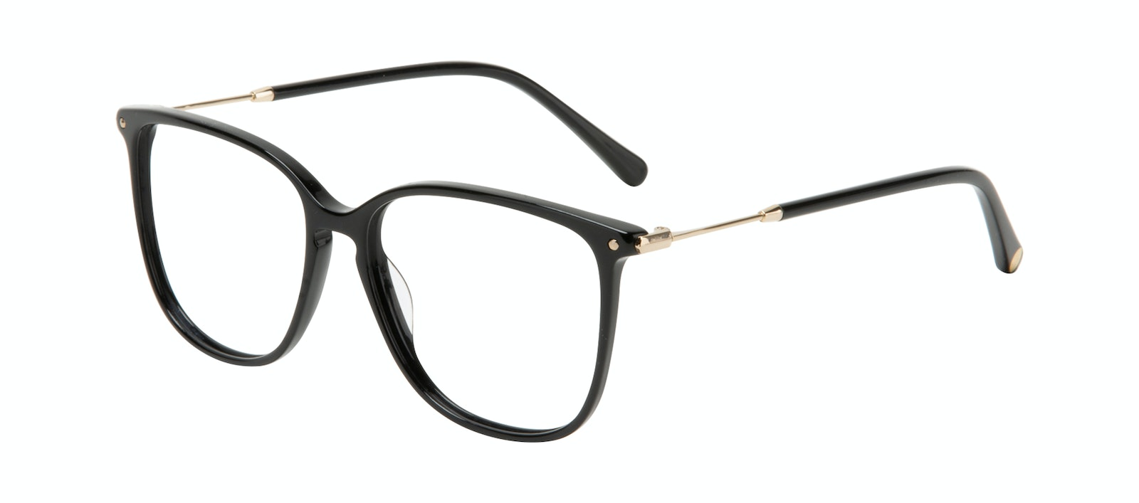 Affordable Fashion Glasses Square Eyeglasses Women Sonia Pitch Black Tilt
