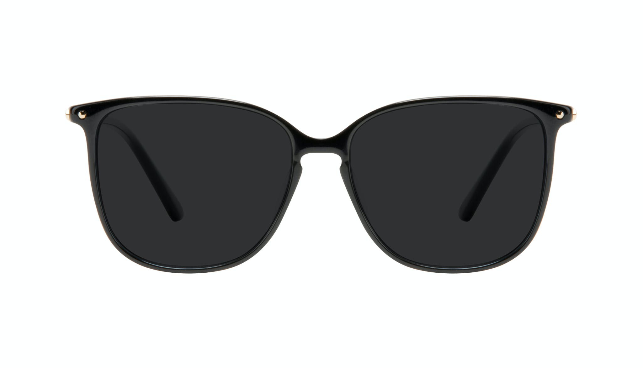 Affordable Fashion Glasses Square Sunglasses Women Sonia Pitch Black