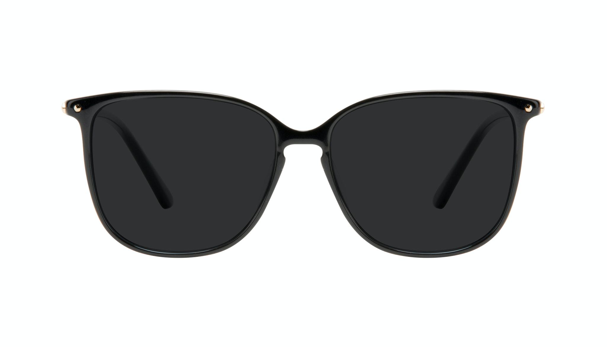 Affordable Fashion Glasses Square Sunglasses Women Sonia Pitch Black