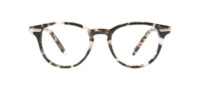 Affordable Fashion Glasses Round Eyeglasses Women Spark Mocha Tort Front