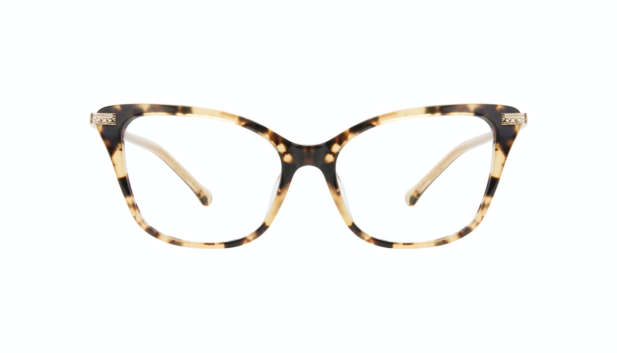 Affordable Fashion Glasses Cat Eye Eyeglasses Women Stargaze Golden Chip Front