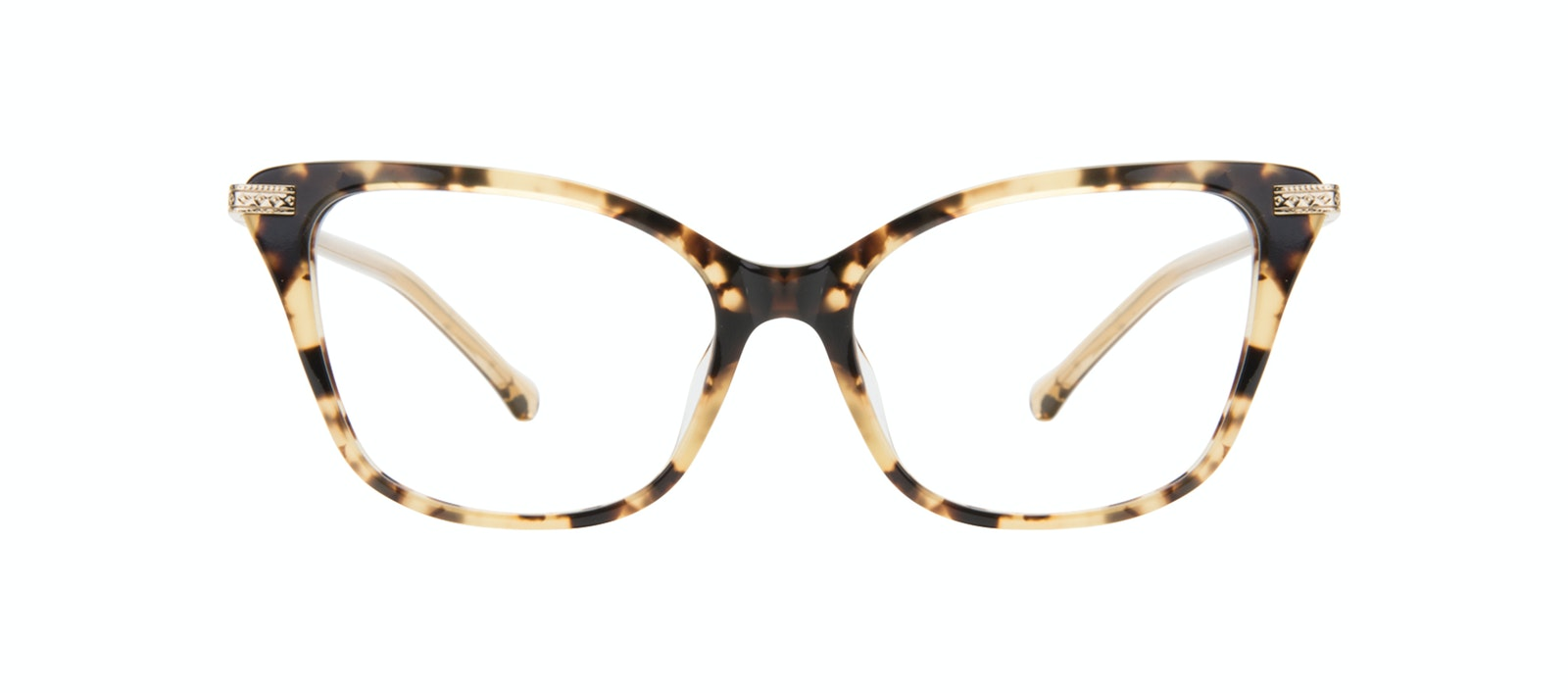 Lunettes tendance Oeil de chat Lunettes de vue Femmes Stargaze Golden Chip Face