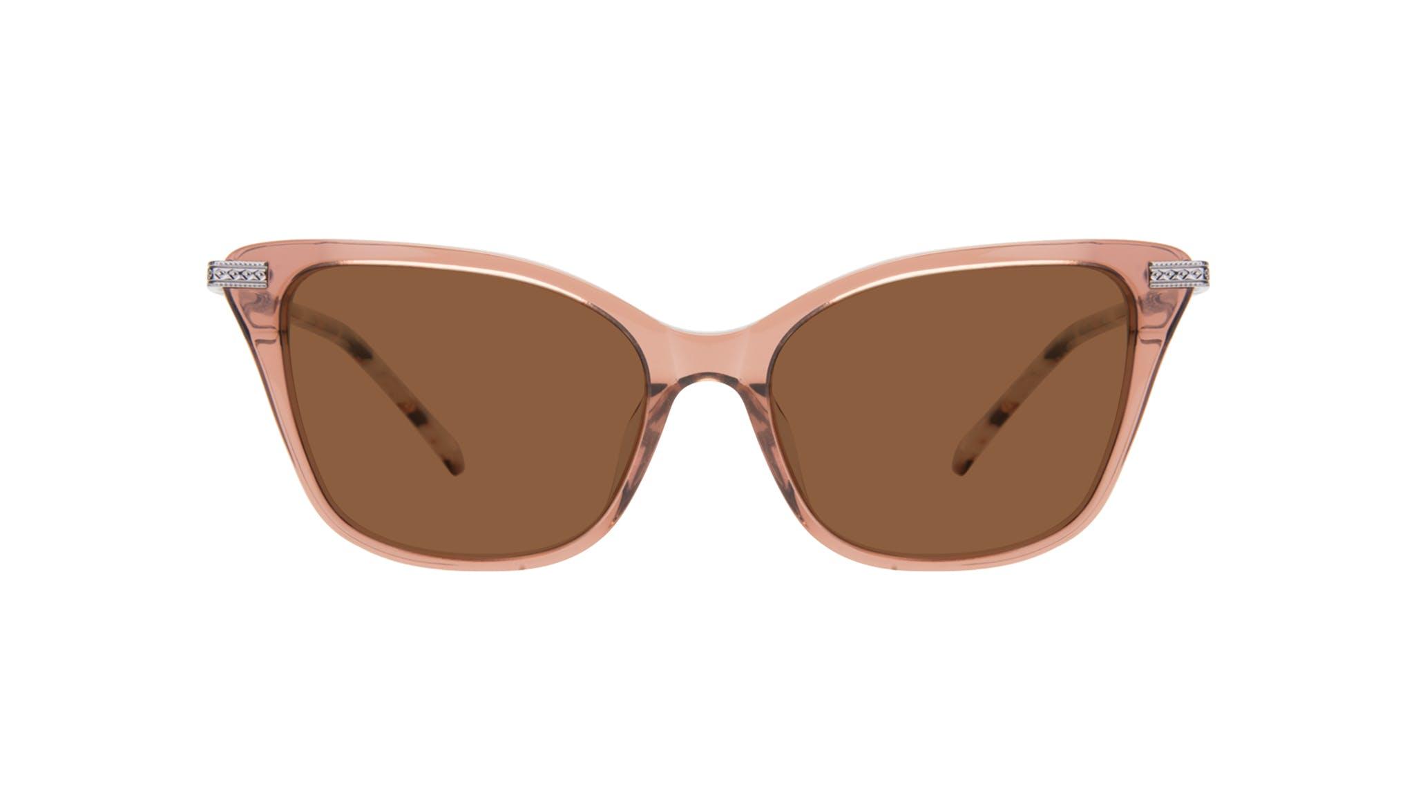 Affordable Fashion Glasses Cat Eye Sunglasses Women Stargaze Truffle Rose Front