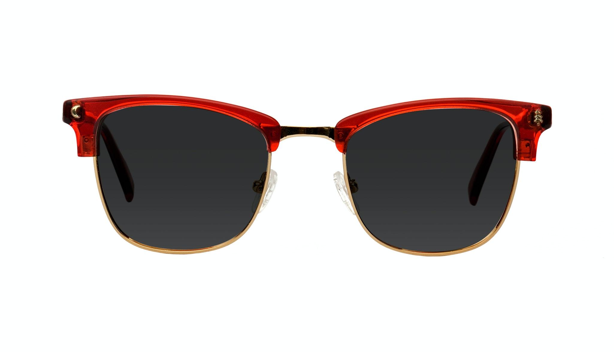 Affordable Fashion Glasses Rectangle Sunglasses Women Stargazer Kindled Red