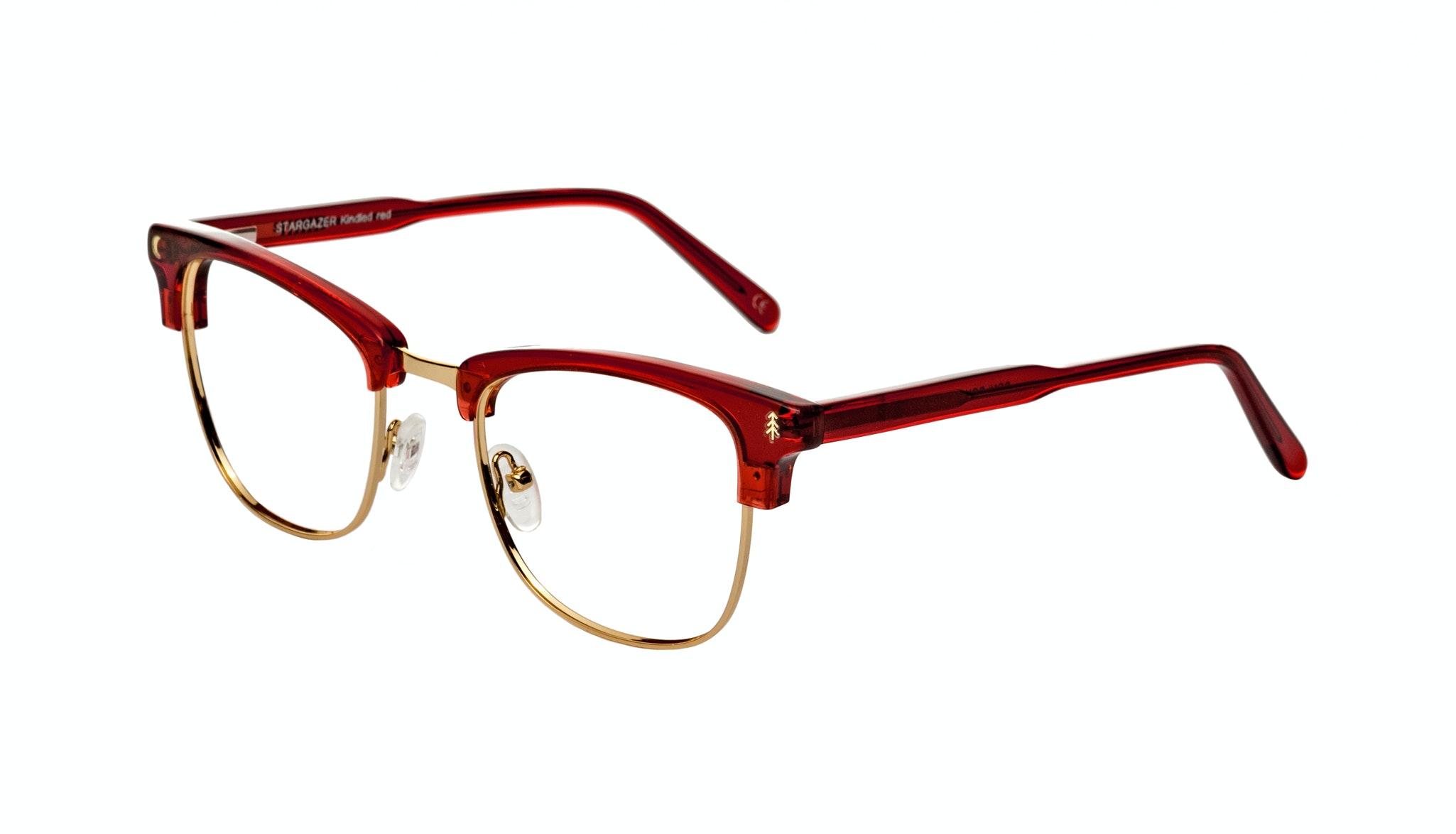 Affordable Fashion Glasses Rectangle Eyeglasses Women Stargazer Kindled Red Tilt