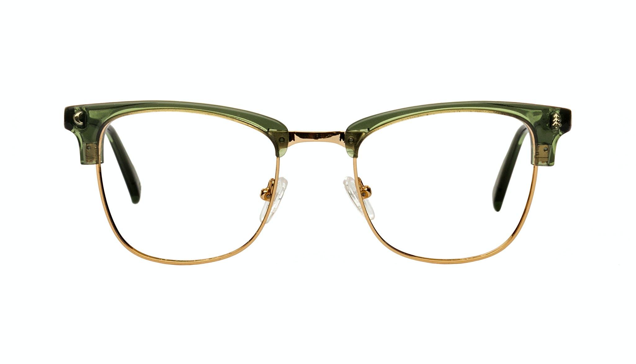 Affordable Fashion Glasses Rectangle Square Eyeglasses Women Stargazer Moss Green Front