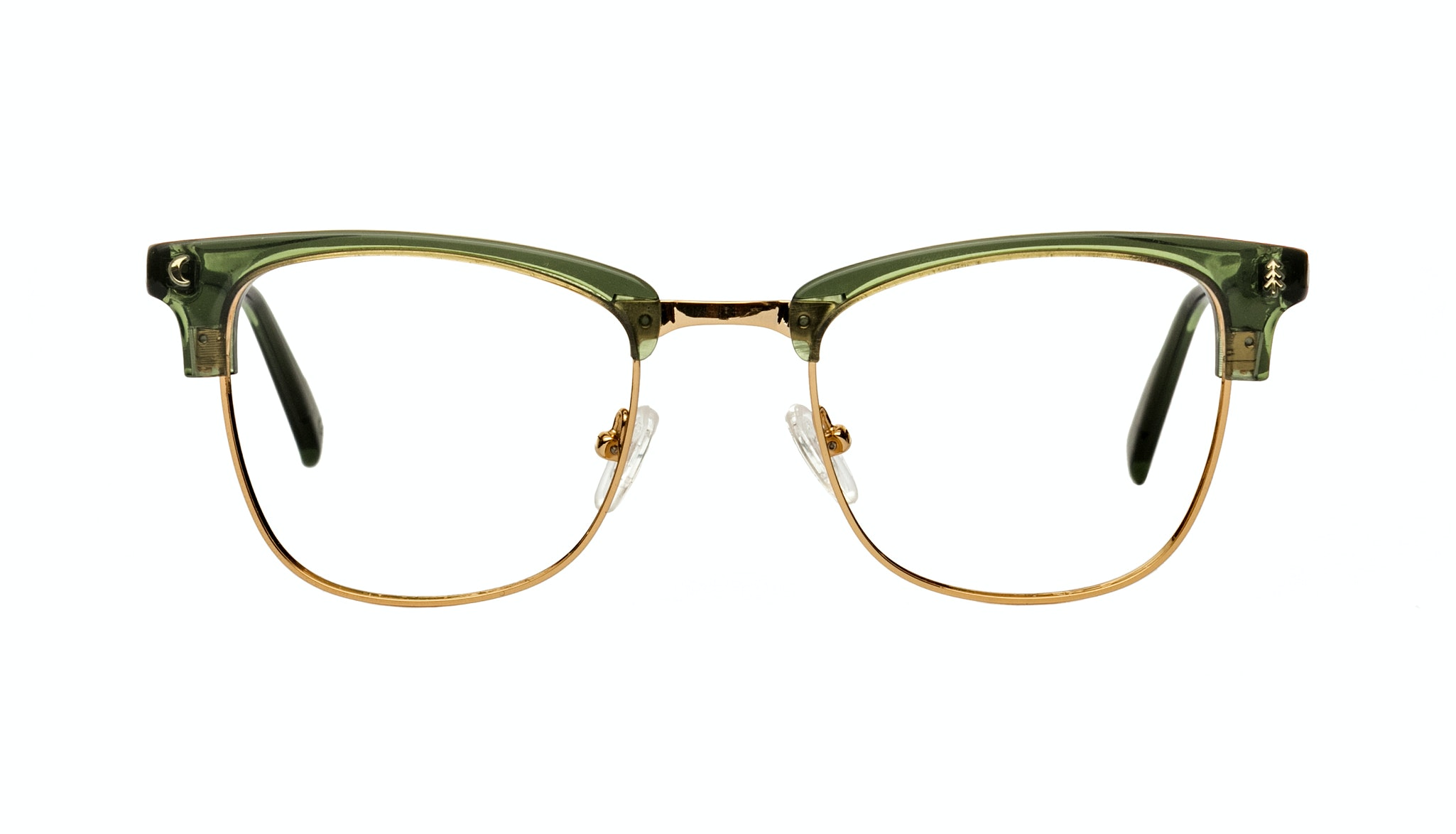 Affordable Fashion Glasses Rectangle Eyeglasses Women Stargazer Moss Green