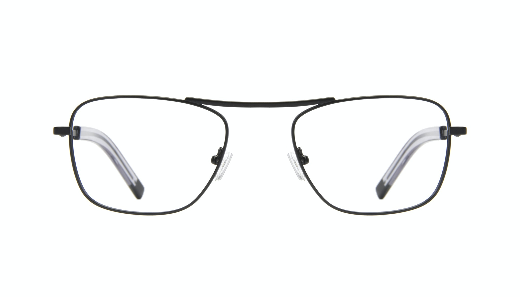 Affordable Fashion Glasses Aviator Rectangle Eyeglasses Men Stark Matt Black