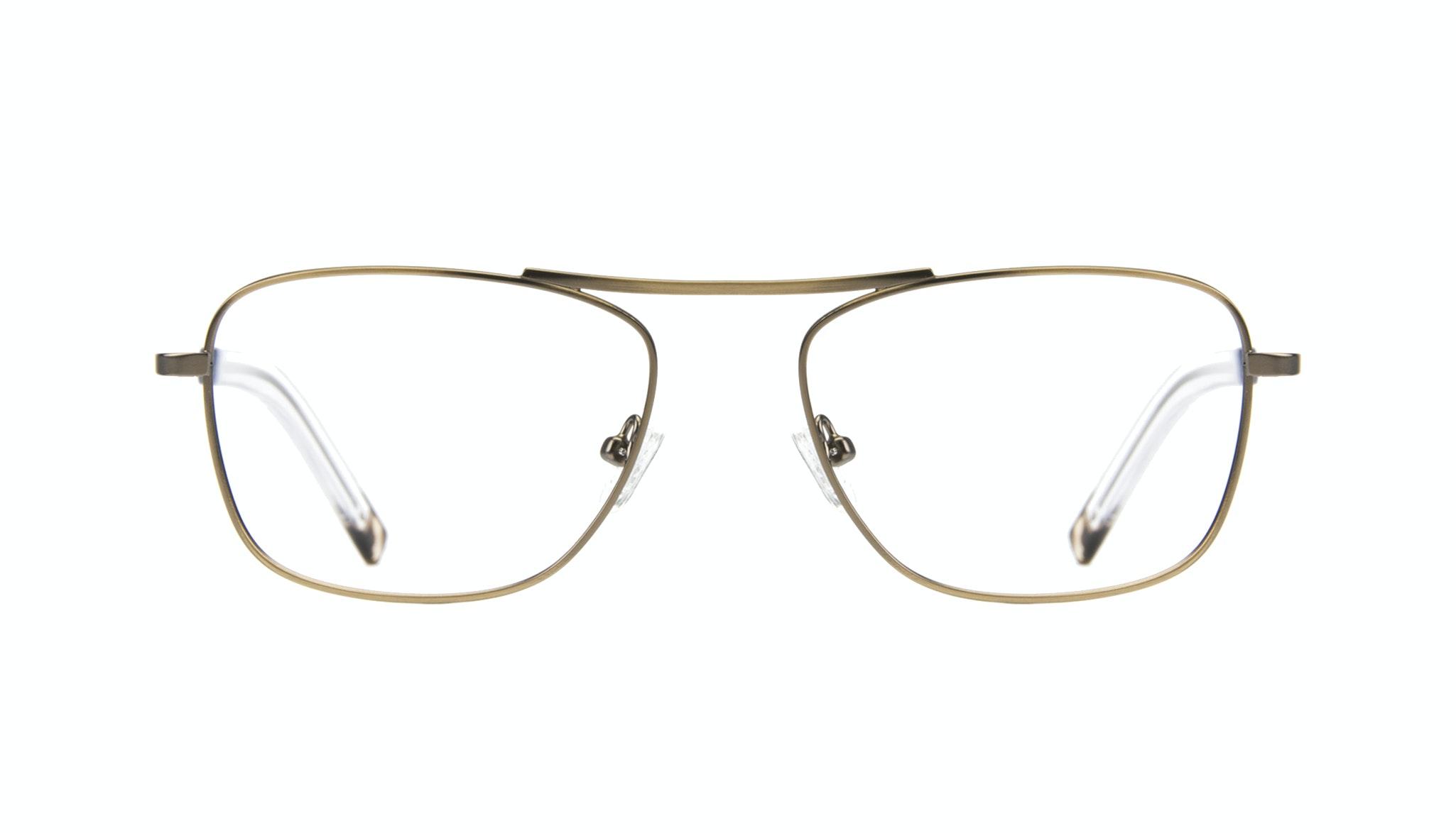 Affordable Fashion Glasses Aviator Rectangle Eyeglasses Men Stark Matt Brass