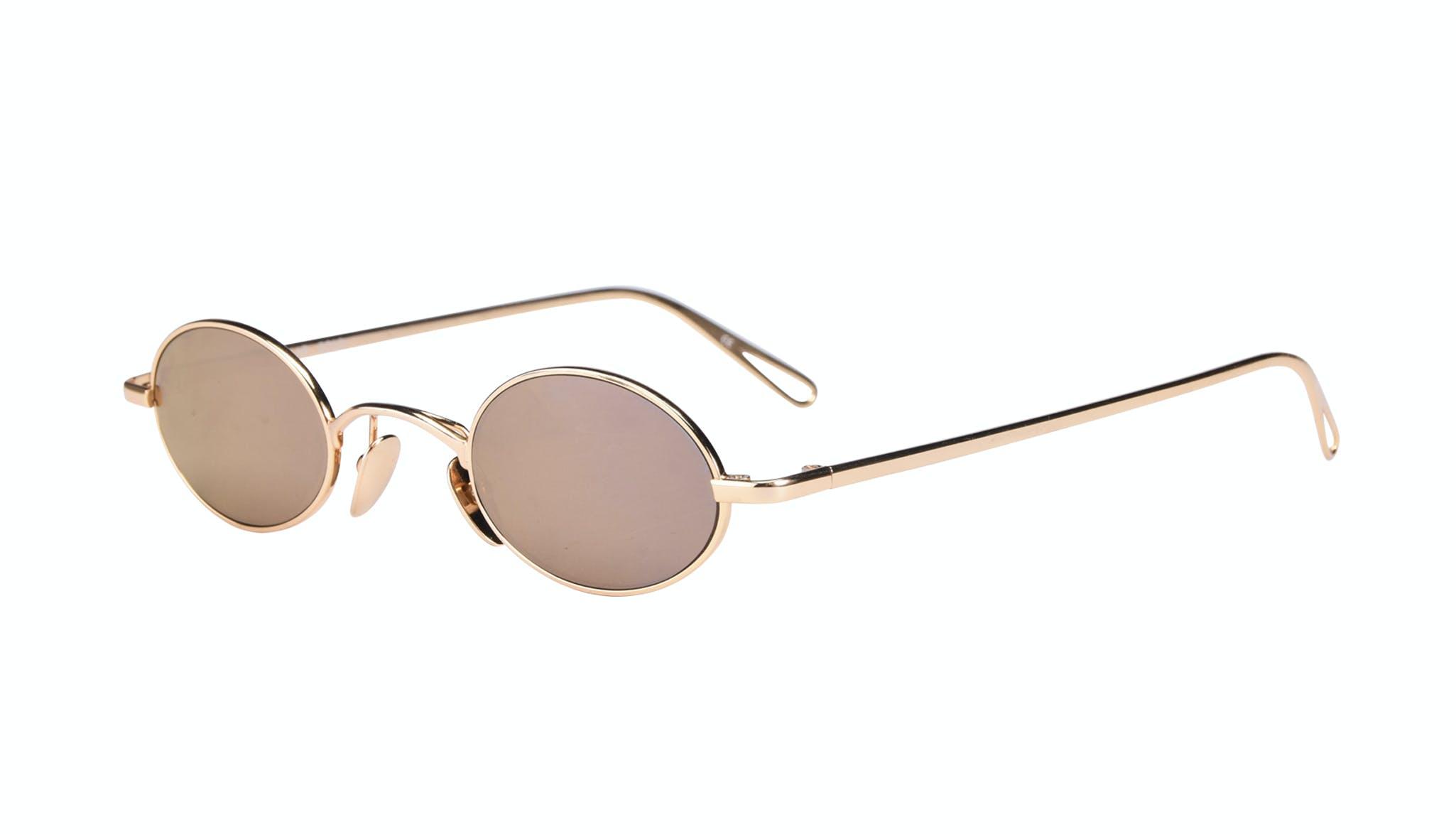 Affordable Fashion Glasses Round Sunglasses Women Stellar Gold Tilt