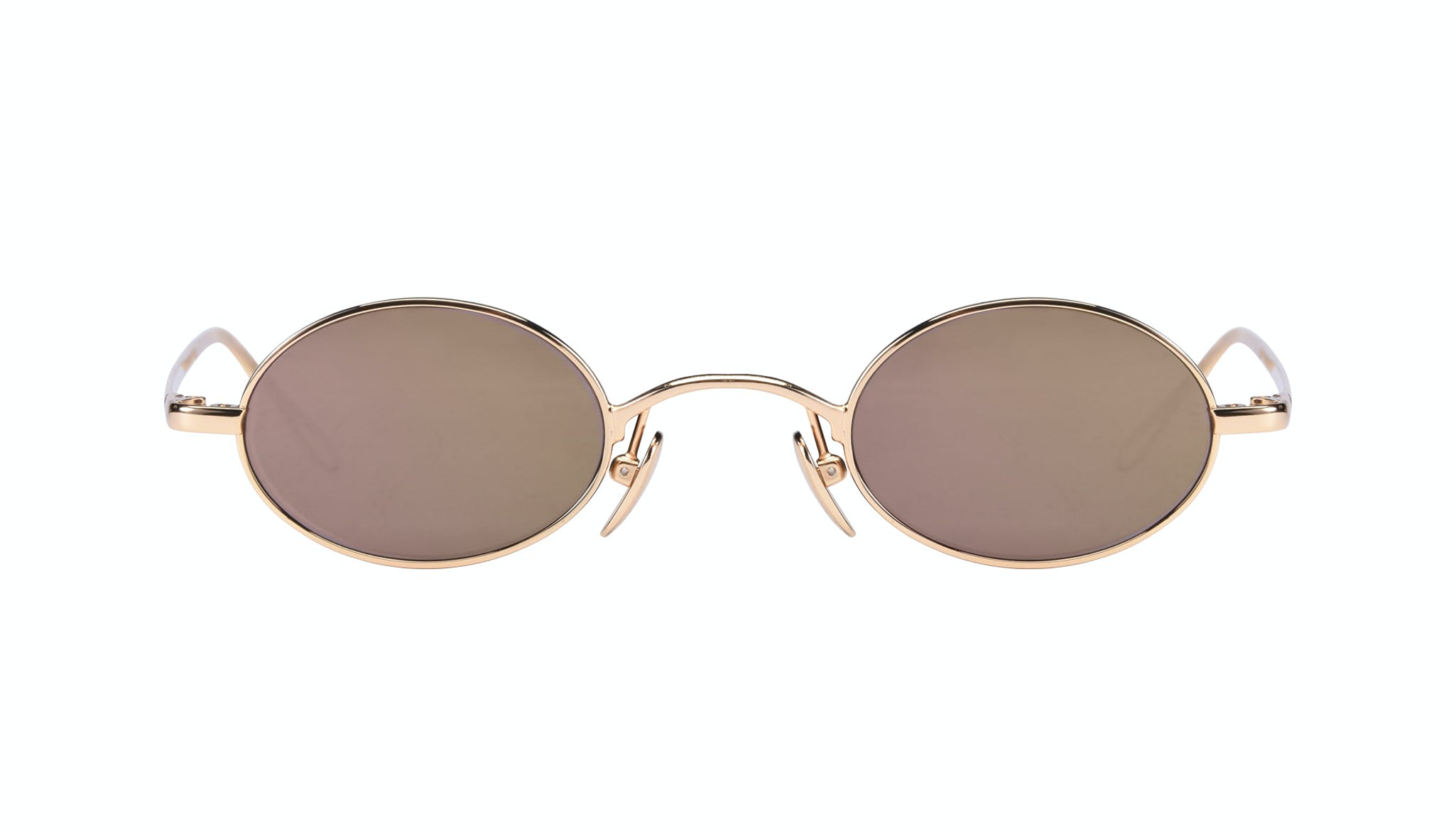 Affordable Fashion Glasses Round Sunglasses Women Stellar Gold Front