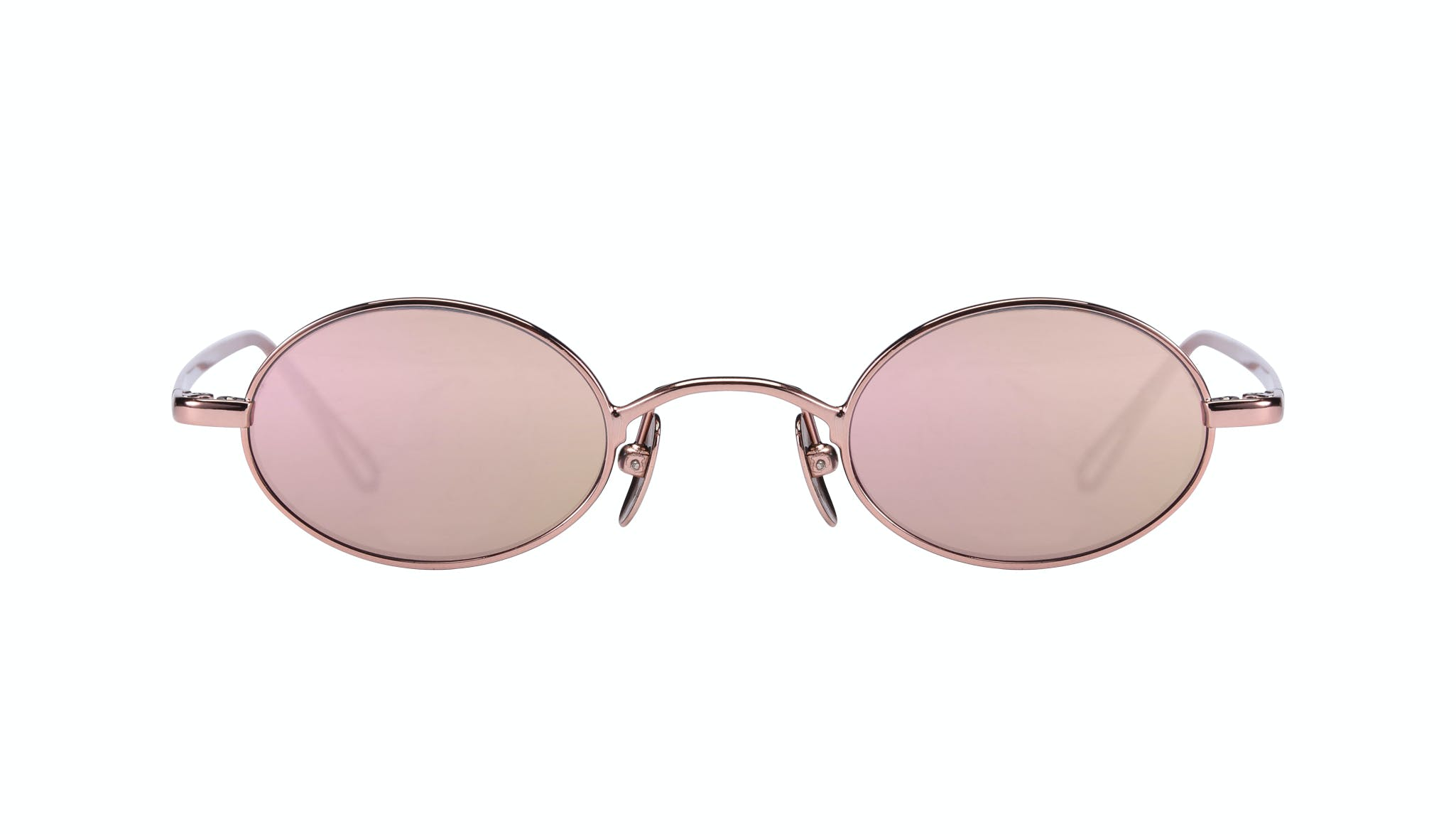 Affordable Fashion Glasses Round Sunglasses Women Stellar Rose Gold Front