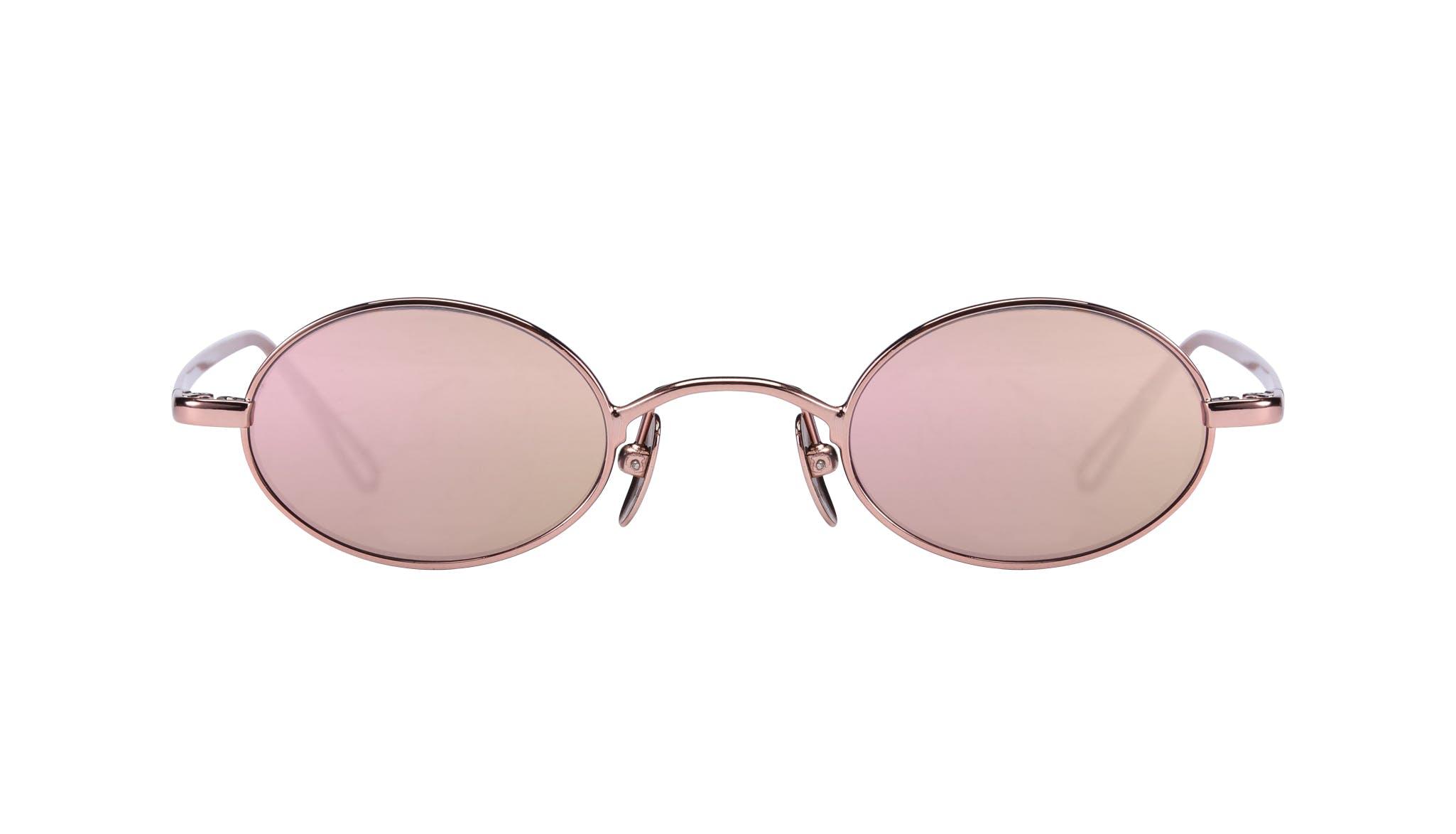 Affordable Fashion Glasses Round Sunglasses Women Stellar Rose Gold