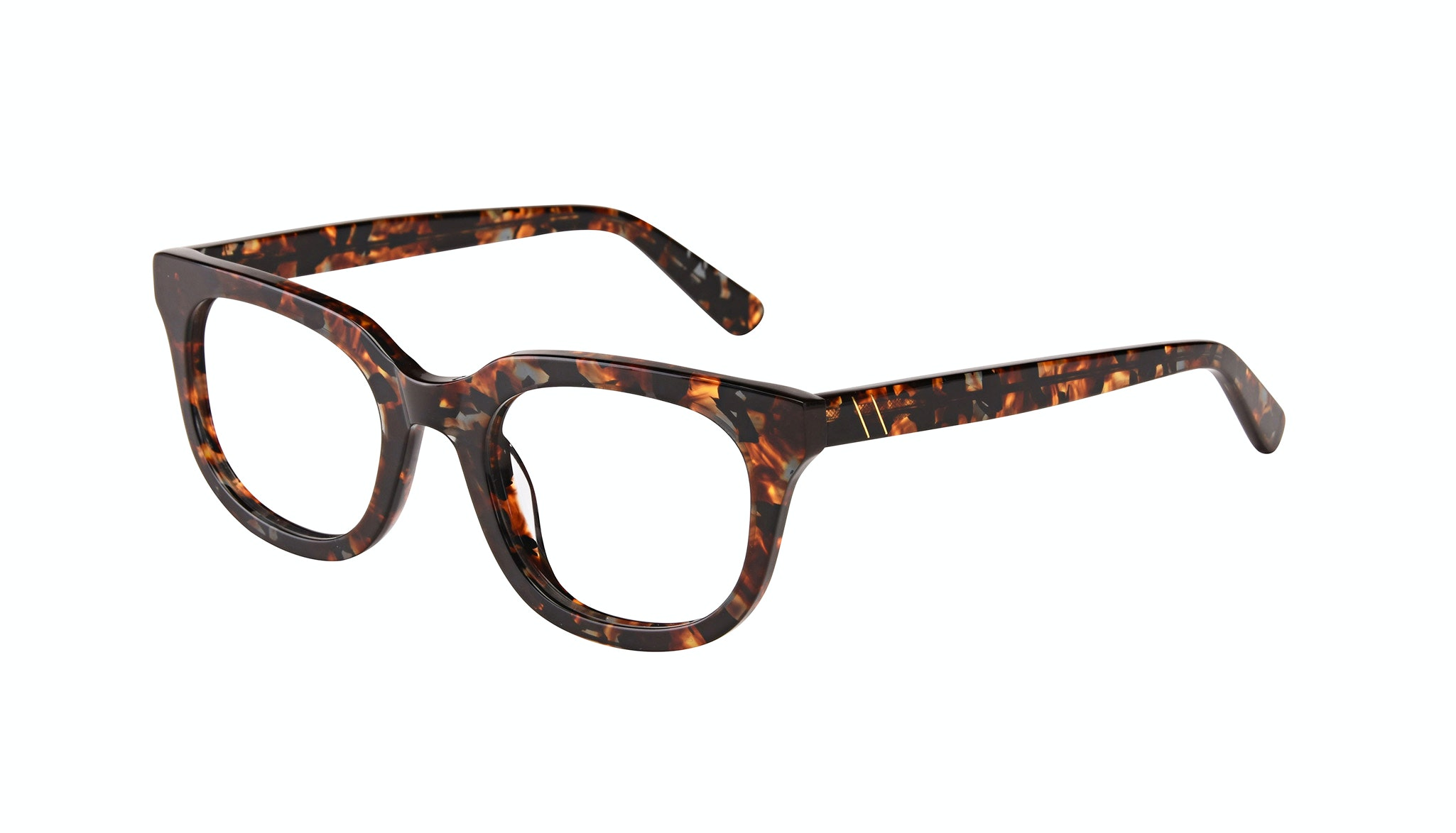 Affordable Fashion Glasses Square Eyeglasses Men Stout Mahogany Tilt