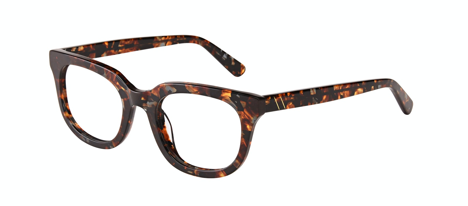 Affordable Fashion Glasses Square Eyeglasses Men Stout Mahogany Tilt