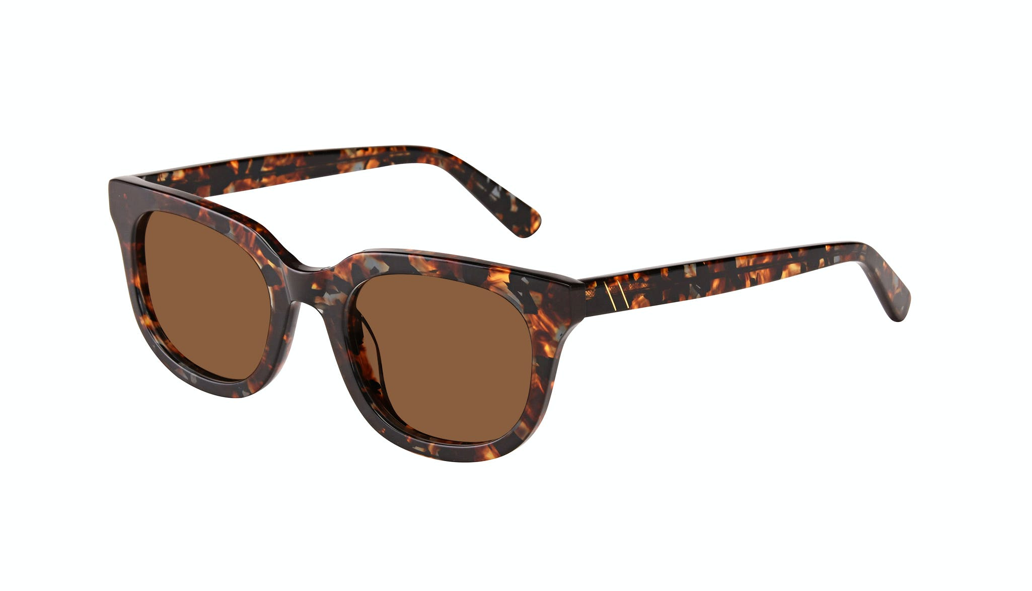 Affordable Fashion Glasses Square Sunglasses Men Stout Mahogany Tilt