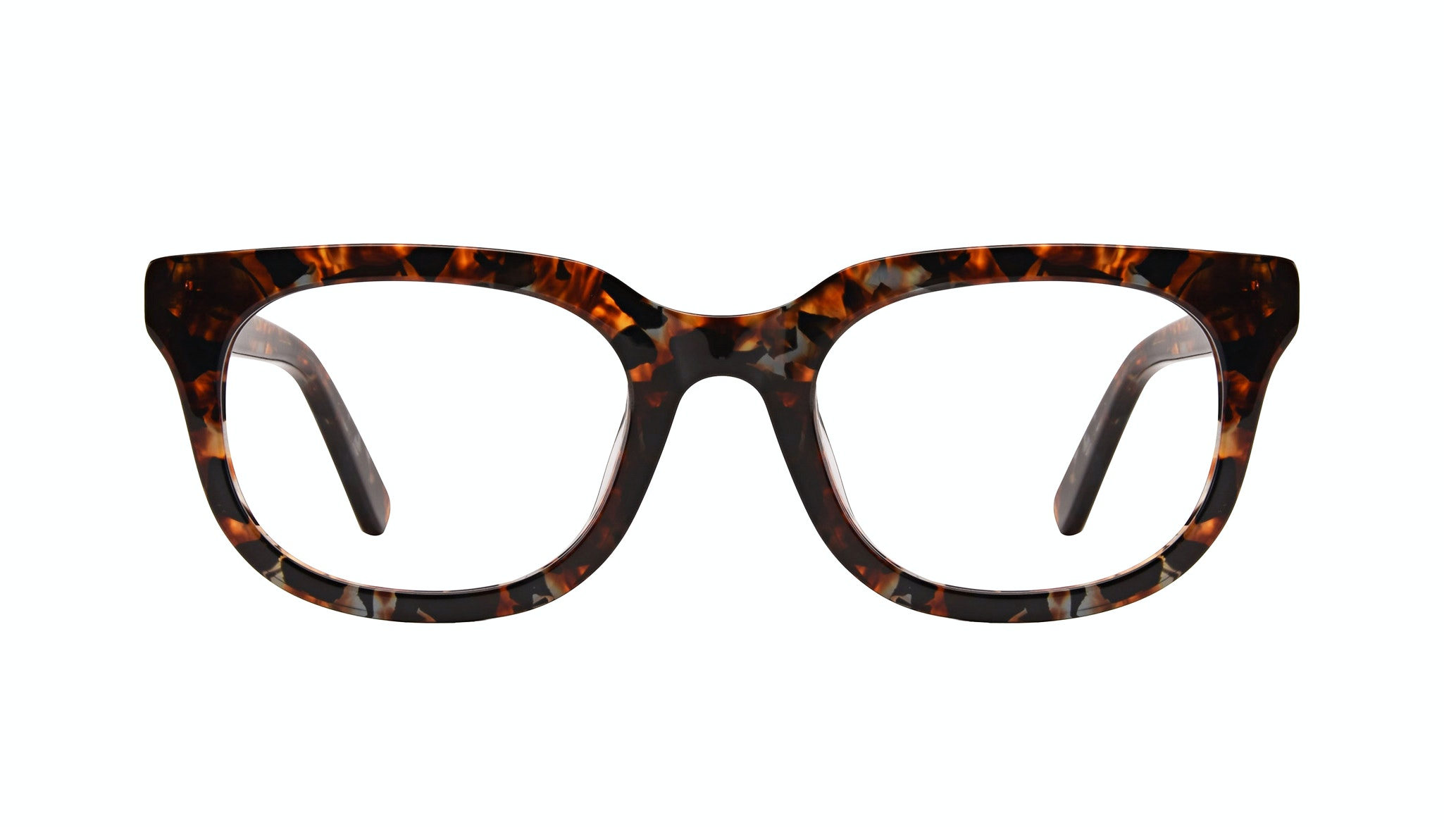 Affordable Fashion Glasses Square Eyeglasses Men Stout Mahogany Front