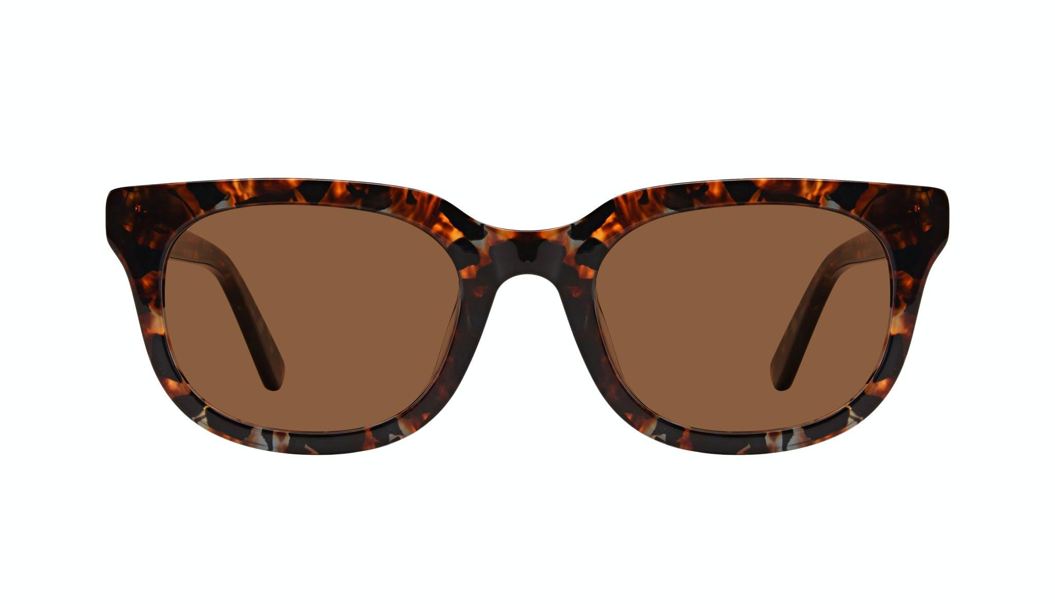 Affordable Fashion Glasses Square Sunglasses Men Stout Mahogany Front