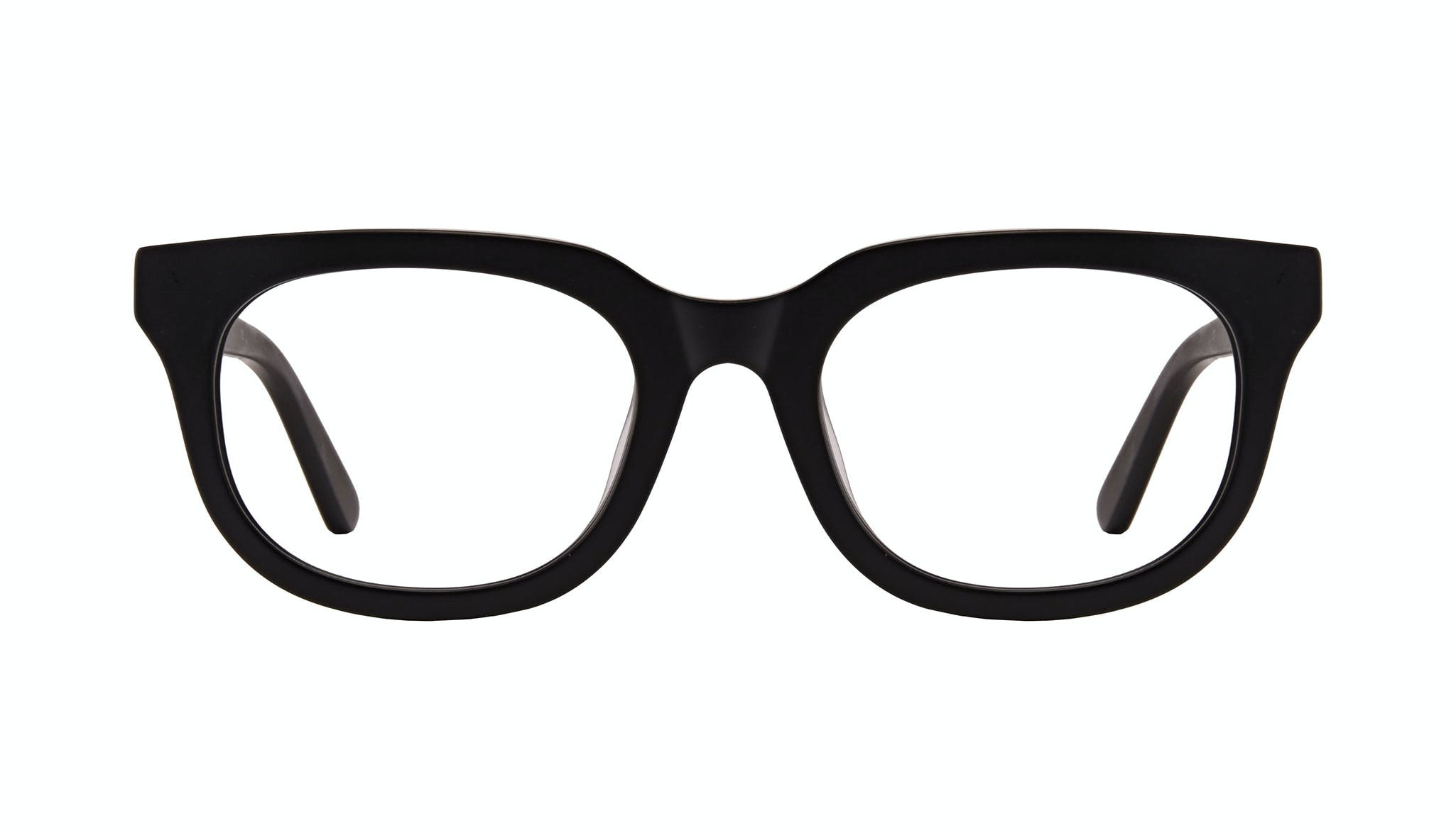 Affordable Fashion Glasses Square Eyeglasses Men Stout Matte Black Front