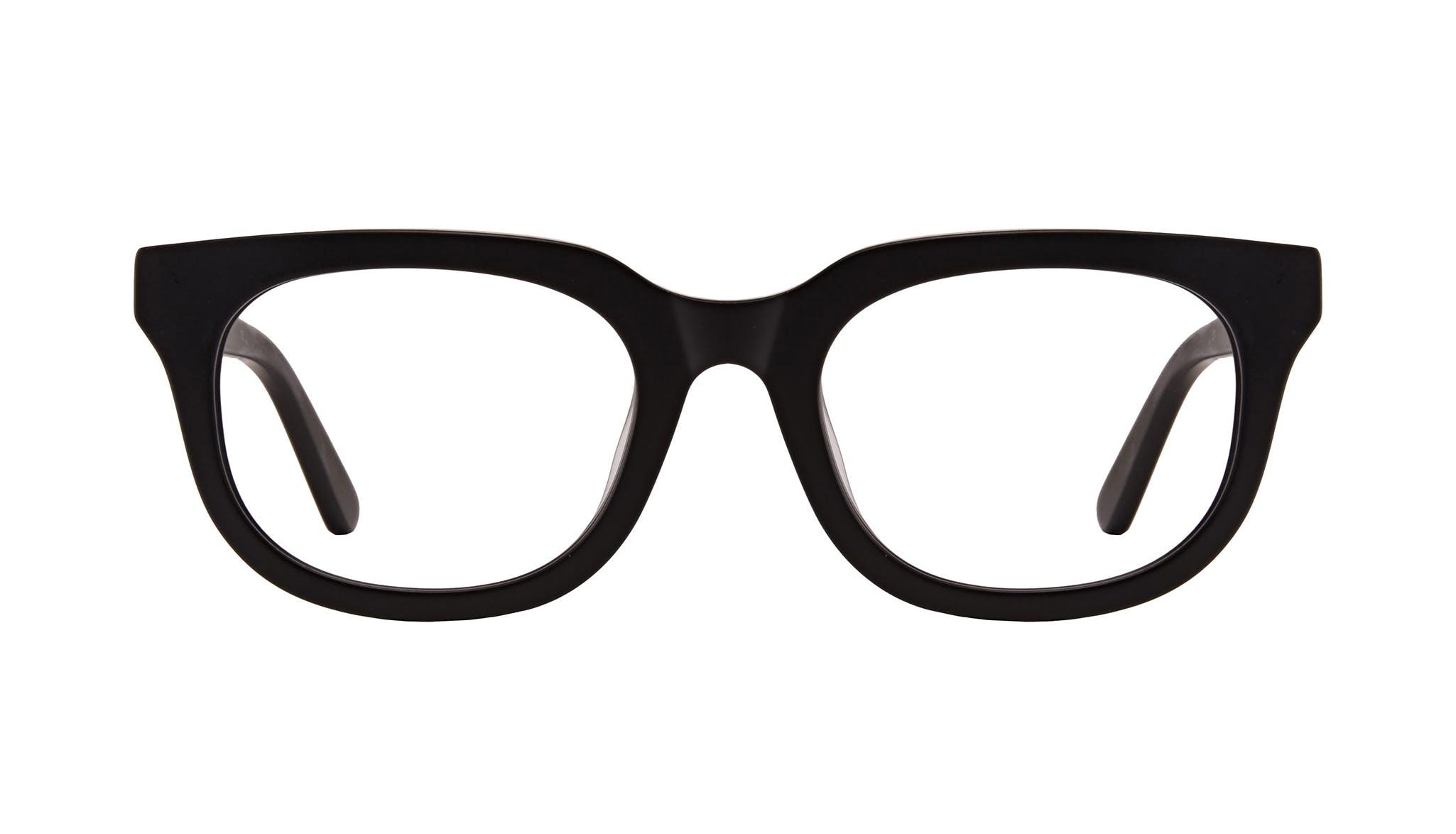 Lunettes tendance Carrée Lunettes de vue Hommes Stout Matte Black