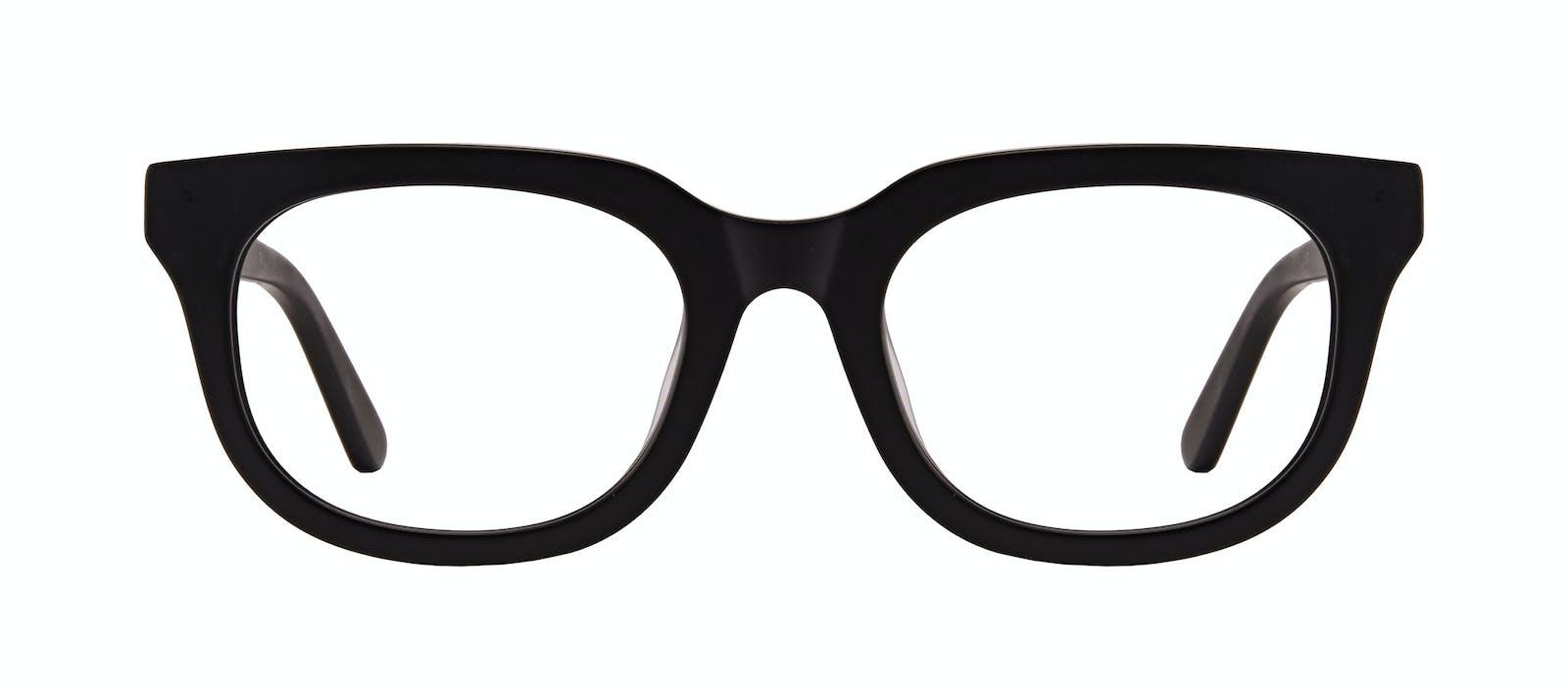 6a2bed8638 Affordable Fashion Glasses Square Eyeglasses Men Stout Matte Black Front