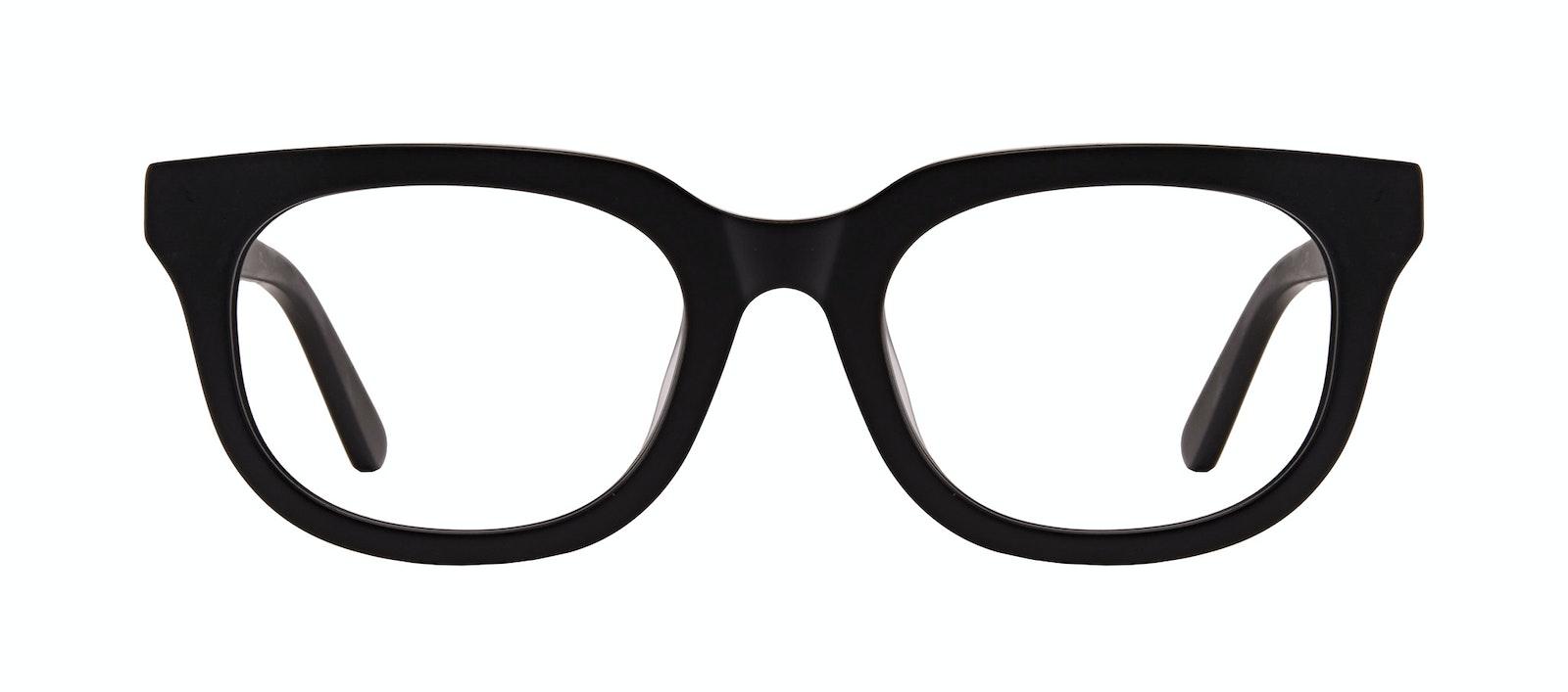 Affordable Fashion Glasses Square Eyeglasses Men Stout Matte Black Front