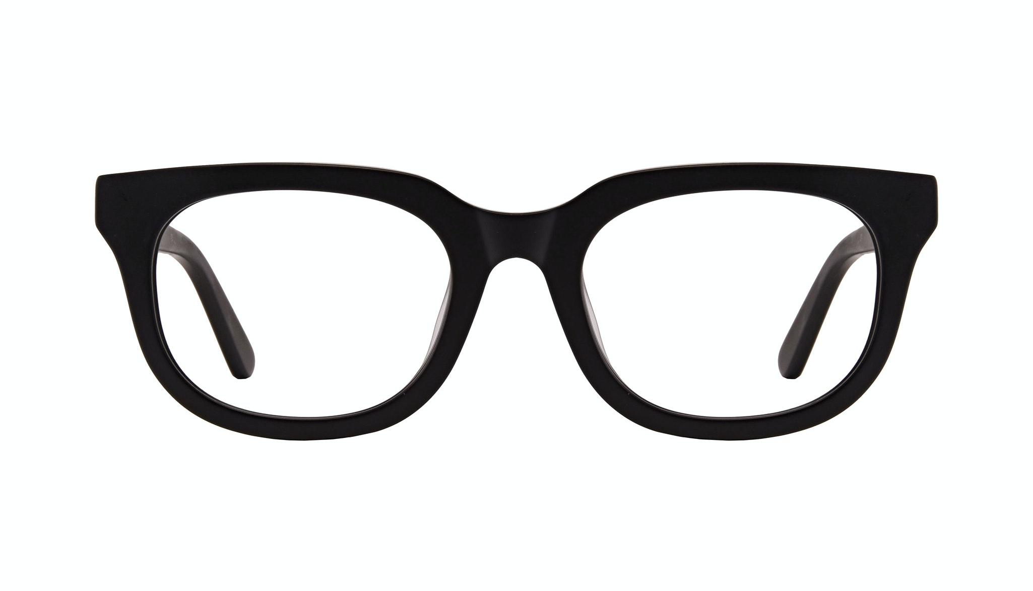 Affordable Fashion Glasses Square Eyeglasses Men Stout Matte Black