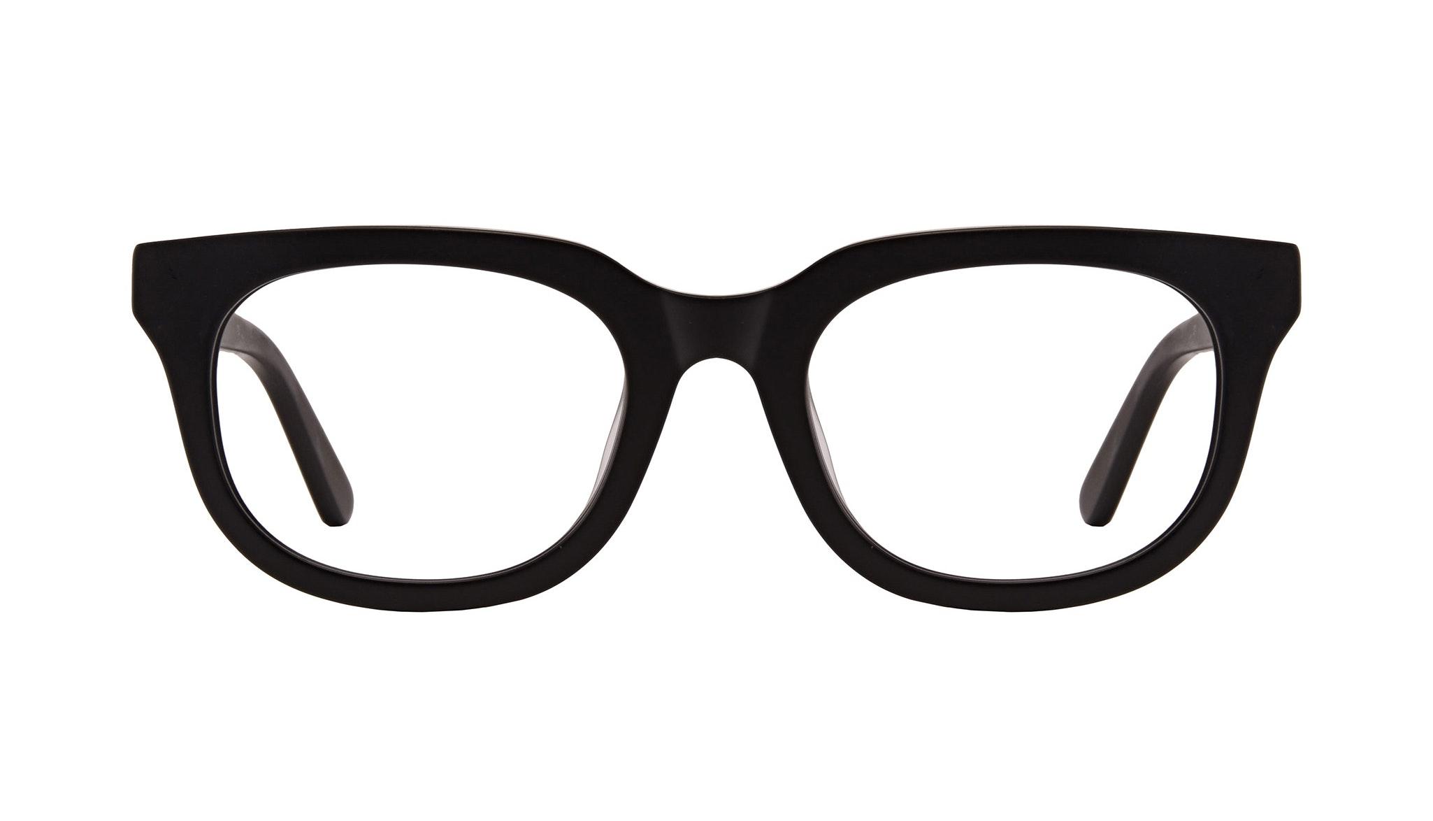 Lunettes tendance Carrée Lunettes de vue Hommes Stout Matte Black Face
