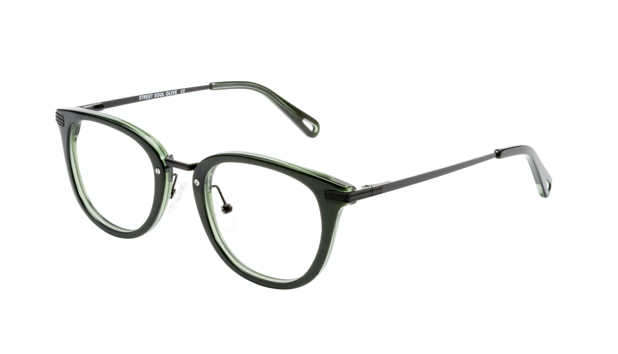 Affordable Fashion Glasses Rectangle Square Eyeglasses Men Street Soul Olive Tilt